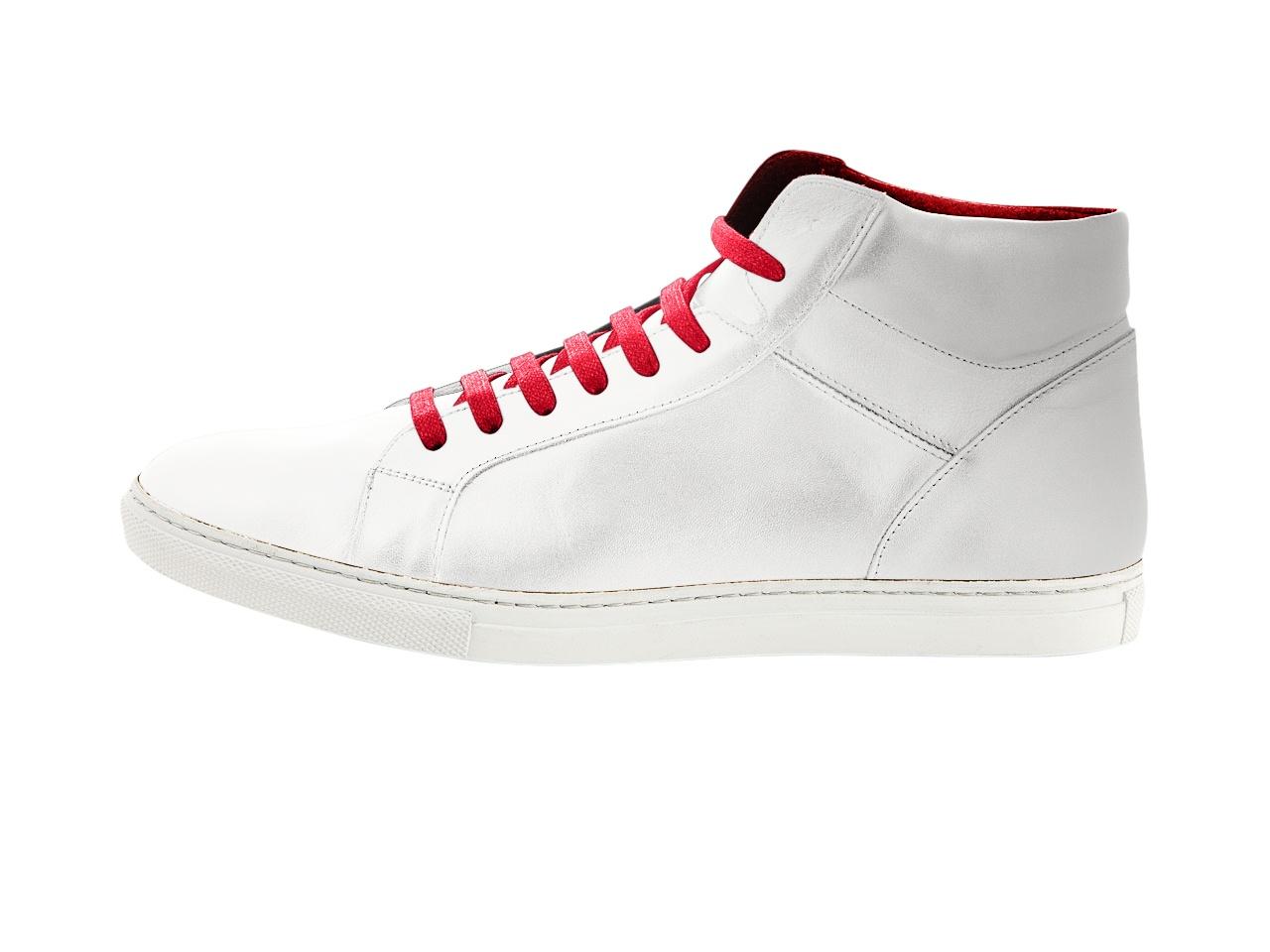 Leder sneaker weiß